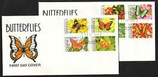Dominica, Scott cat. 1176-1183. Butterflies issue on 2 First Day Covers.