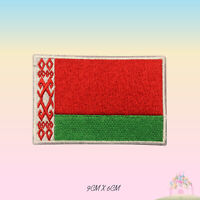 Belarus National Flag Embroidered Iron On Patch Sew On Badge Applique