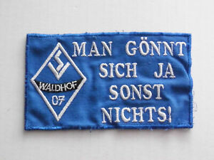 SV WALDHOF MANNHEIM 07 AUFNÄHER DFB FUSSBALL FIFA KUTTE WESTE MOTIV 1