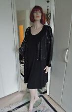 Abendkostüm Kostüm Gr.54 Gr.56 Kleid Jacke schwarz zeitlos Figurschmeichler