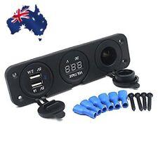 12V Dual USB Charger Car Cigarette Lighter Socket Power Digital Voltmeter SE