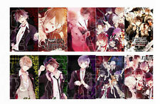 Hot Japan Anime DIABOLIK LOVERS 10 pc/set Card Paster IC Card Sticker Credit