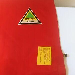 "STANSPORT VINTAGE RED Nylon AIR Mattress w/Pillow in Original Open Bag  30""×72"""