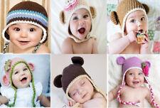 Wholesale Lot 10 Knit Cotton Newborn Baby Child Teddy Bear Hat Photo Prop Hats