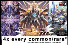 CARDFIGHT VANGUARD Divine Dragon Apocrypha G-BT14 ENG 4xCOMMON/RARE ENG PLAYSET*