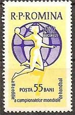 ROMANIA 1962 SPORT HANDBALL GLOB PLAYER SC # 1500 MNH