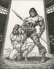 Ernie Chan Conan and Slave Girl commission art