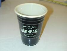 Four Bacardi Oakheart Heavy Plastic Solo Pint Insulated Cups - Black