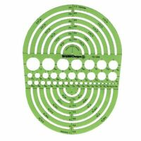 "Alvin CIRCLE RADIUS MASTER Template Stencil Design 3/64"" to 7.5"" Circles TD1202"