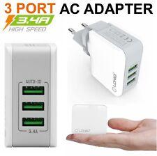 3-Port USB Chargeur Secteur Adaptateur 17W 3.4A Pour Samsung Galaxy A3 A5 A7 A8