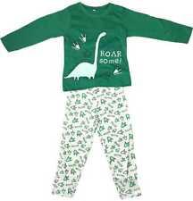 Boys Dinosaur Pyjamas Soft Kids Childrens Top & Bottoms Cosy Comfort Cool PJ's