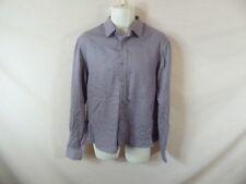 Men's Z Zergna Purple White Long Sleeve Button Down Shirt Sz 16.5
