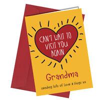 #1308 Grandma Can't Wait To Visit You Again Lockdown Greetings Card