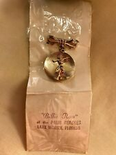 RARE - Vintage Billie Ross of Palm Beaches Lake Worth Florida Golfing Brooch Pin
