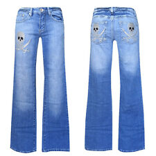 New Zone Jeans Top ++W27-Gr. 34 ++TOP Jeans Top +   silver Skull  Bootcut  Jeans