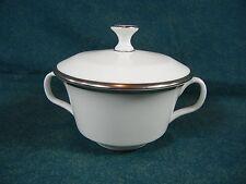 Minton Palatine H5251 White Bone China with Platinum Trim Sugar Bowl with Lid
