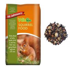 Mr Johnsons Wildlife Grey Black Red SQUIRREL FOOD Seed Nut Fruit Mix Diet 900gm