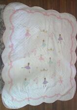 Kids Ballet Lesson Crown Twin Quilt Bedspread Coverlet Laura Hart Pem Ballet