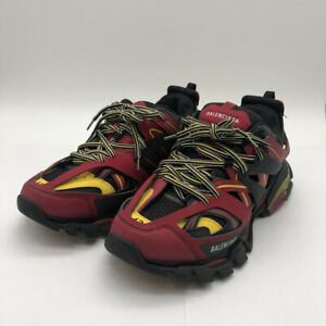 BALENCIAGA Track Trainer Men's Sneakers 542023 Red Yellow Black US 10