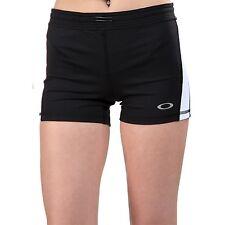 Women's Oakley Showoff Shorts Training Athletic Exercise Jet Black Size Large L