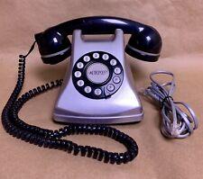 Conair Metropolis Vtg Silver Push Button Dial Retro Style Phone Sw2504 Untested