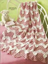 *Boucle' Hearts Ripple Afghan crochet PATTERN INSTRUCTIONS