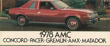 American Motors AMC 1978 USA Market Foldout Sales Brochure Gremlin Pacer Matador