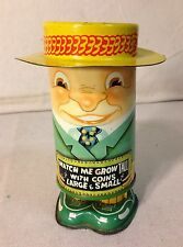 "VINTAGE APEX TIN ""WATCH ME GROW TALL"" BANK"