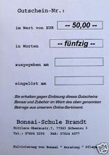BONSAI Geschenk Gutschein im Wert v. EUR 50,--