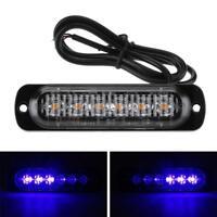 6 LED Auto KFZ Frontblitzer Blitzlicht Warnleuchte LKW Strobe Licht 12-24V Blau