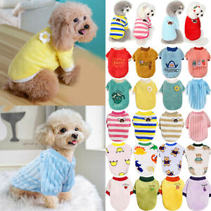 Winter Warm Pet Dog Kitten Clothes Soft Plush Coat For Puppy Chihuahua Outfit A+