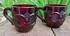 Vintage 1876 Cape Cod Collection Ruby Red Set of 2 Cups