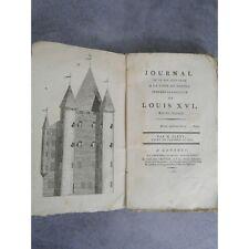 CLERY (Monsieur de). Journal de ce qui s'est passé à la tour du Temple pendant l