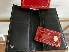 Cartier Must de Black Leather  Wallet Authentic  NEW with Card of Authenticity