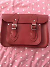 Cambridge Satchel Company. 11 inch leather satchel in red/ oxblood.