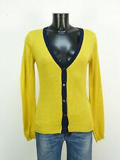Brunella Gori chaqueta de punto talla L/amarillo & 100% lana merino (l 9558)