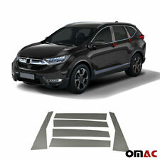 Fits Honda Cr-V 2017-2020 Dark Chrome Window Panel B-Pillar Trim S.Steel 6 Pcs (Fits: Honda)
