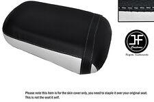 Blanco y Negro personalizado de vinilo cabe Honda VTX 1800 02-04 Trasero Cubierta de asiento solamente