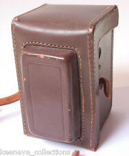 "Leather Tlr Case 3.25"" Wide 3.5"" Deep Body 5.5"" Tall - Vintage E19"