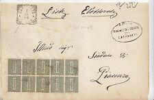 U238-REGNO-PIEGO DA CARPANETO (TONDO RIQ.) A PIACENZA 1894