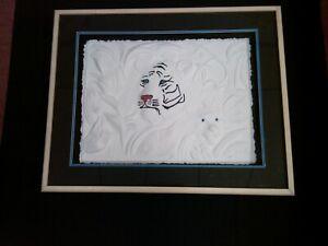 """Innocence"" By Mauro Possobon  Tiger Sculpture Hand Cast 100% cotton paper COA"