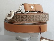 COACH SIGNATURE JACQUARD KHAKI AND CAMEL L LARGE L DOG LEASH FOR COACH COLLARS