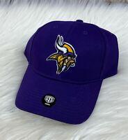 Minnesota Vikings NFL Purple Curved Brim Adjustable Hat Cap, Adult Men NFL