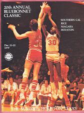 1979  20th ANNUAL BLUE BONNET  HOOPS  PROGRAM  USC, HOUSTON