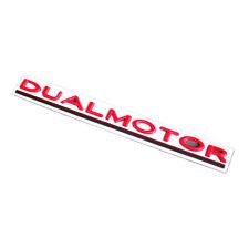 Red DUAL MOTOR Letter Car Rear Trunk Lid Emblem for Tesla Model 3 S X Y Roadster