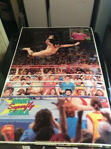 RARE 1980S WWF WRESTLING POSTER JIMMY SUPERFLY SNUKA WWE
