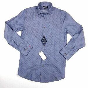 Original Penguin Mens Dress Shirt 15 32/33 Blue Stretch Heritage Slim Fit NEW