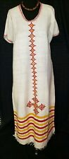Eritrean, Ethiopian Dress, Traditional Habesha Clothes, African, Embroidered