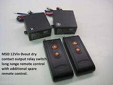 MSD 12v 2ch on off dry contact relay 2 long range remote control switch RP201P2