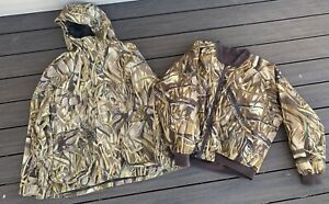 CABELAS Dry Plus HUNTING Coat PARKA w/ LINER Advantage Wetlands Camo 2XL